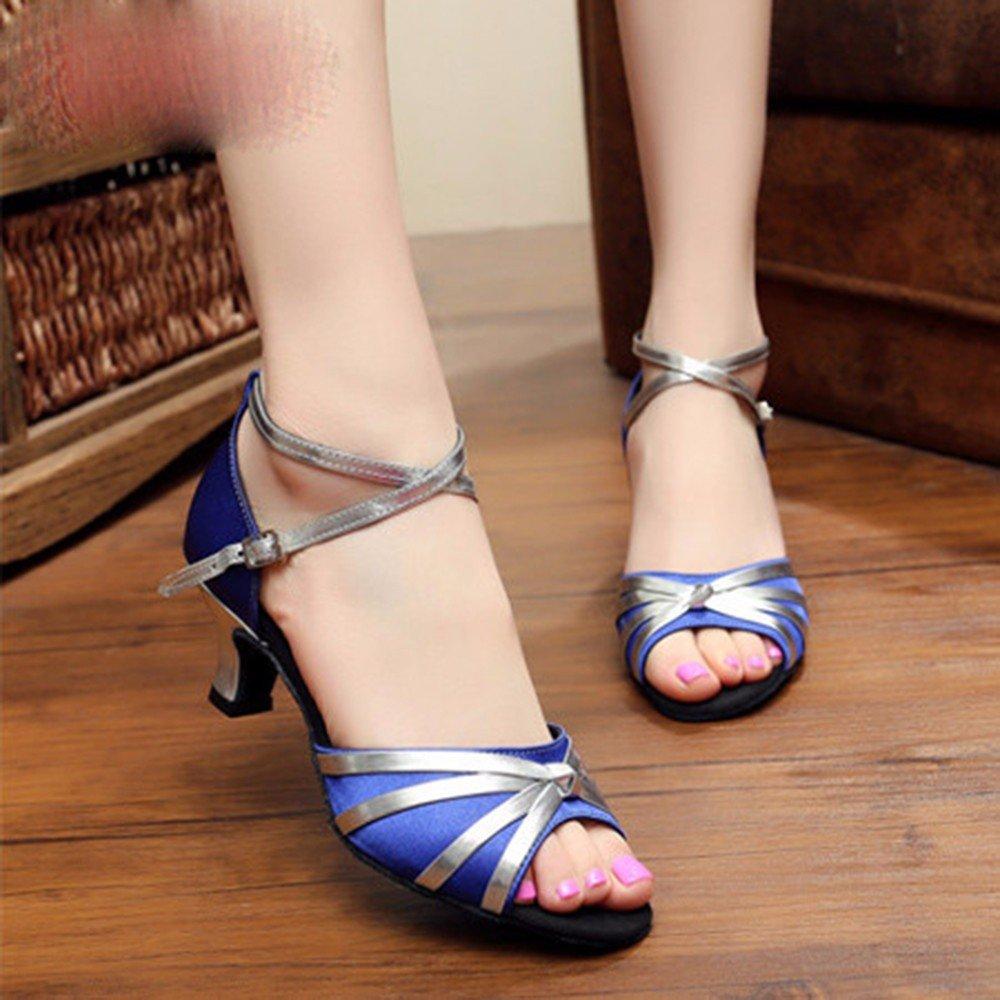 Bleu Masocking@ Femme Chaussures de Danse Sandales Fin de l'attache des chaussures de danse US6 EU36 UK4 CN36