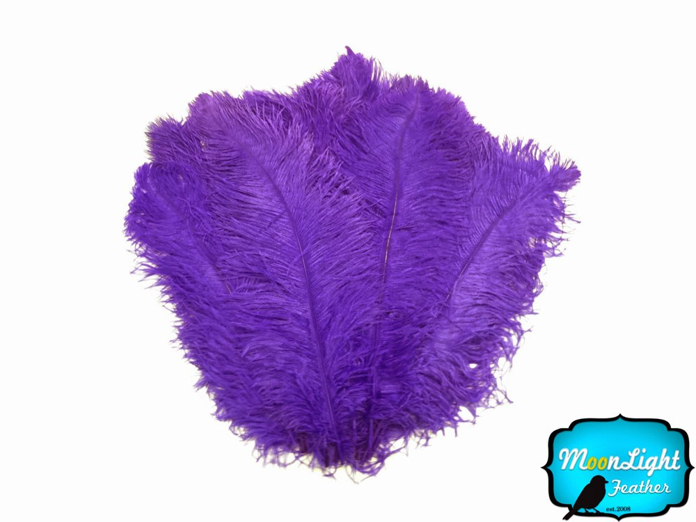Ostrich Feathers, 1/2 lb 18-24'' Purple Large Wing Plumes Wholesale Feathers