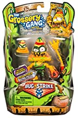 They're better, bolder and grosser than ever before! Grossery Gang action figures, with fully articulating joints, are back to take on the bugs! It's time for the Grosseries to fight for their Slimy Survival! Comes ready for combat with a Sti...