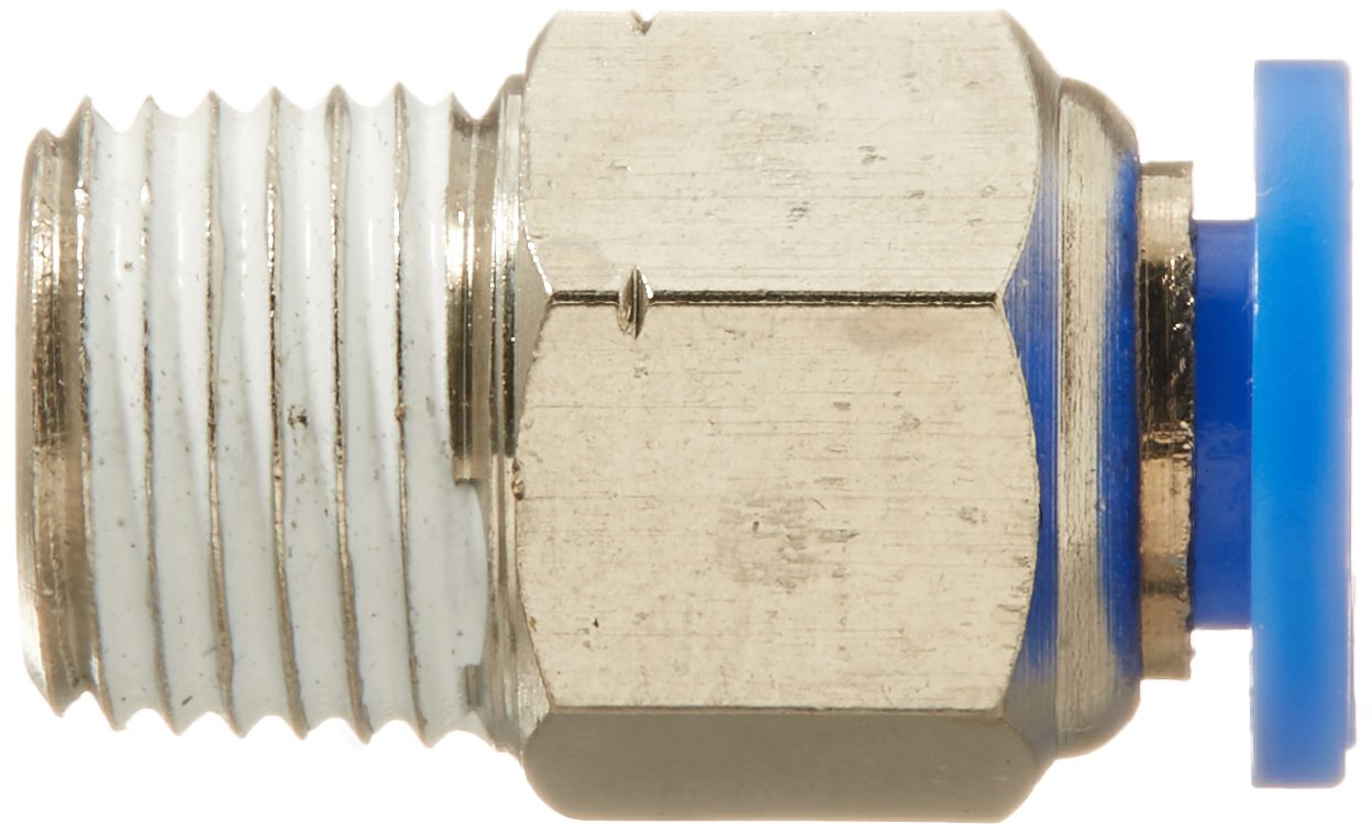 Push to Connect Straight Male Fitting 3//16 OD 1//8 NPT Thread