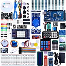 Elegoo Mega 2560 Project The Most Complete Ultimate Starter Kit w/ TUTORIAL, MEGA 2560 controller board, LCD1602, Servo, Stepper Motor for Arduino Mega2560 UNO Nano