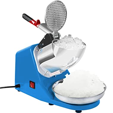 VIVOHOME Electric Ice Crusher Shaver Snow Cone Maker Machine Blue 143lbs/hr for Home and Commerical Use