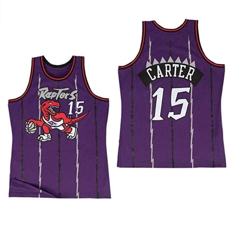 Jersey No.15 Toronto Raptors Hombres NBA Vince Carter Retro de Las ...