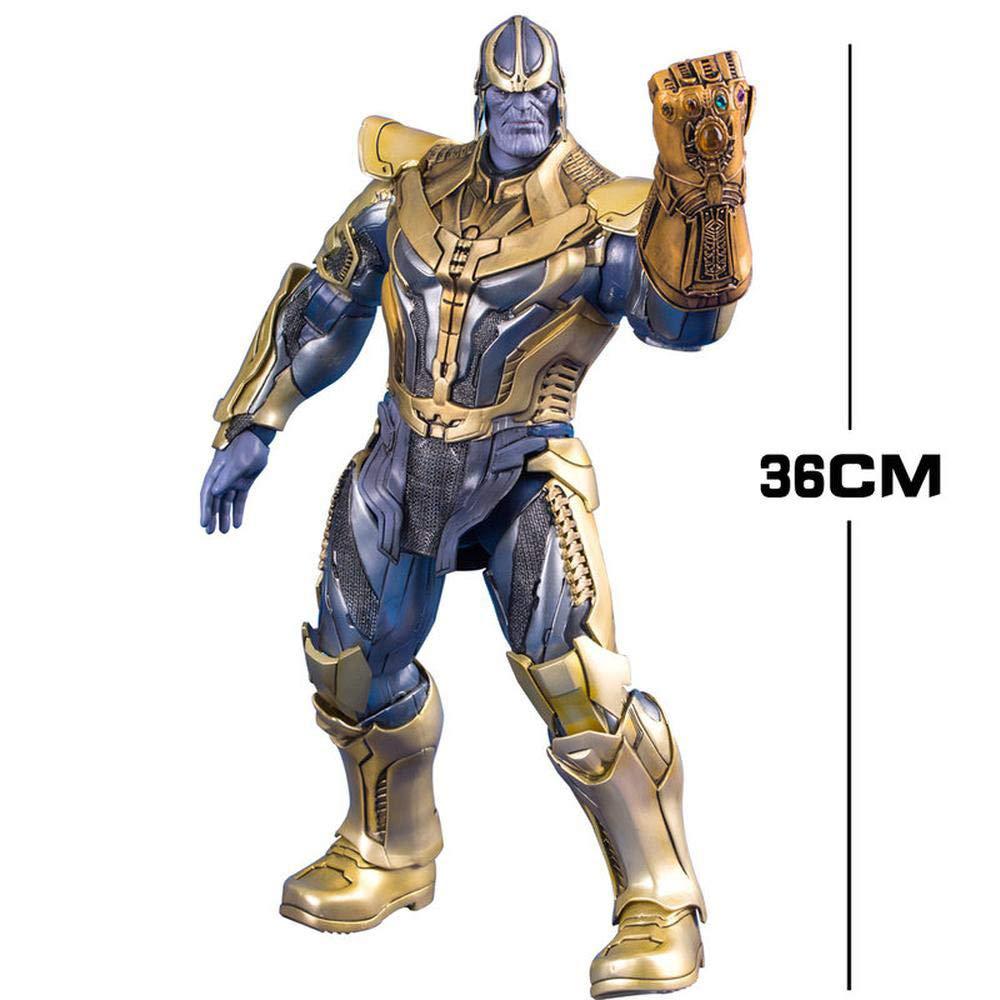 Thanos RLJqwad Marvel Toy Modell Avengers 4 Thanos Modell Infinite War Handschuhe 14-Zoll-Modell Thanos