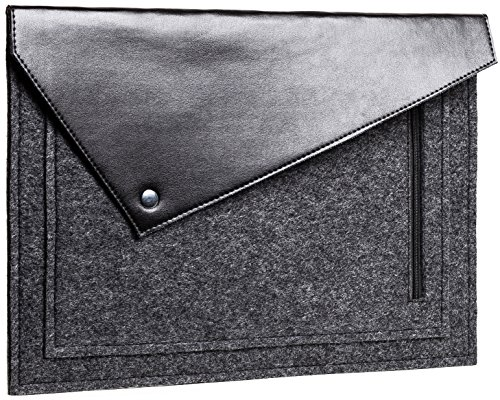 Gmakin - Triangular Macbook Sleeve Case - Macbook Air & Pro Felt Case for 13.3 inch - Sleeve Case Cover Bag for Apple Macbook Pro 13 Retina - Natural Felt Macbook Case