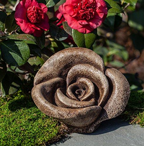 Hershey Rustic Rose Statue, Copper Bronze Finish (Statuary Dark Bronze)