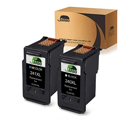 JARBO Remanufactured Canon PG 240XL CL 241XL Ink Cartridges 1 Black