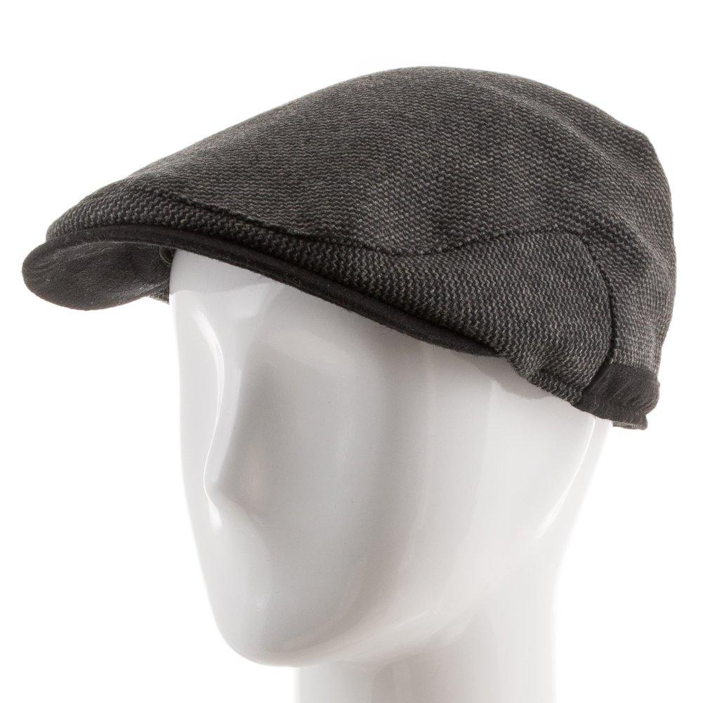 ba241483e808a Ultrafino Scottish Wool Ivy Herringbone Newsboy Scally Driving Cap with Fleece  Ear Flaps at Amazon Men s Clothing store