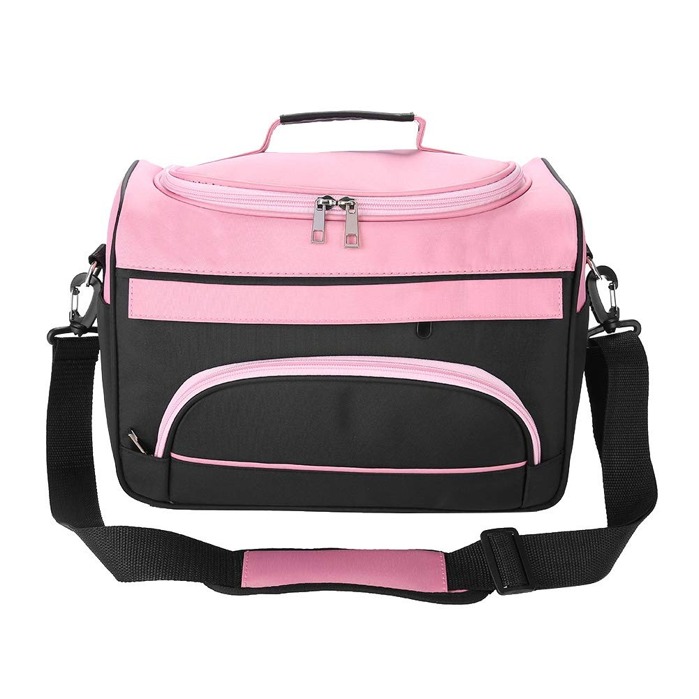Hairdressing Bag, Large Capacity Pro Hair Equipment Salon Tool Carrying Bag Travel Storage Case (Pink)