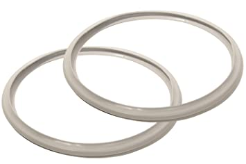 Kimmyer 2 PCS presión de la Olla de Repuesto Junta-Sellos de Silicona para cocinas de presión-Accesorios Dulces y salados para cocinas de presión de tamaño ...