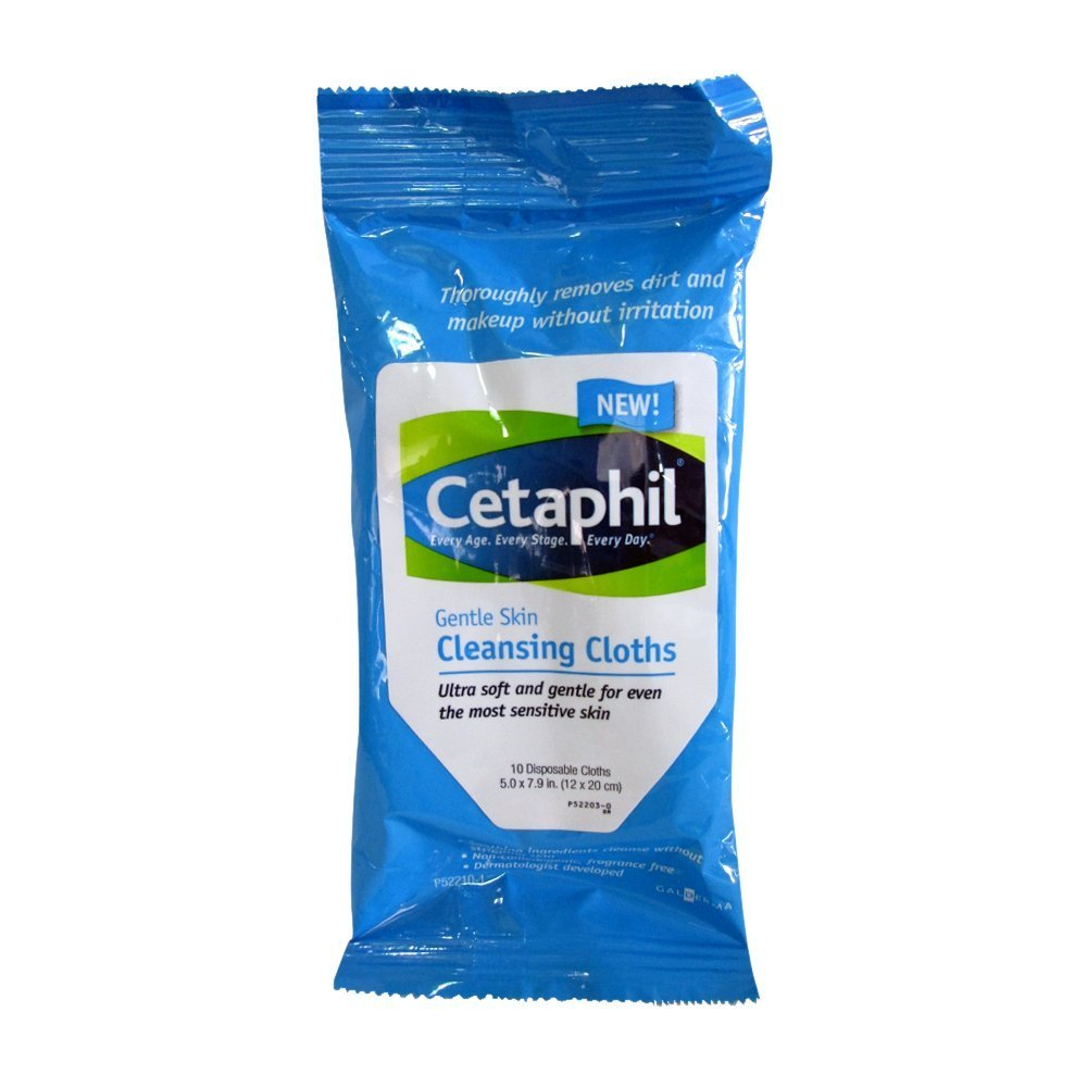 Cetaphil Skin Cleansing Cloths, 10 ea (Pack of 4)