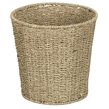 Household Essentials Woven Seagrass Waste Bin