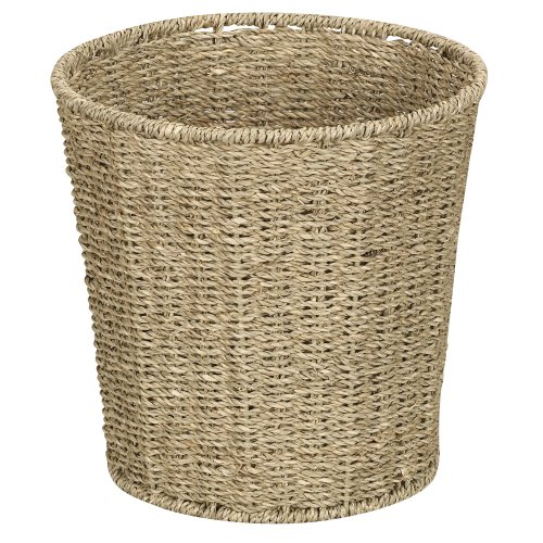 Household Essentials ML-5692 Woven Seagrass Wicker Squander Bin - for Bathrooms and Bedrooms - Natural