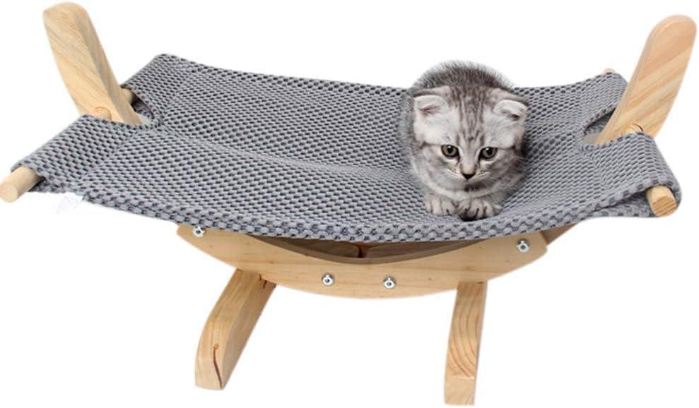 Gray 1 Sortim Gatto Amaca Letto Trasppirante Legno Resto Nanna Morbido Confortevole Animali Domestici Forniture Trasppirante,Morbido,Confortevole