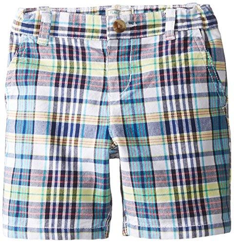 The Children's Place Little Boys' Plaid Short, White, 2T
