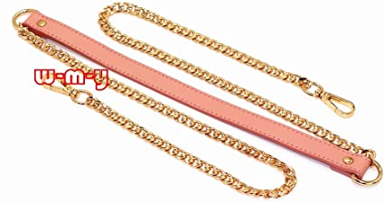 Gold M-W 55 DIY Iron Box Chain Strap Handbag Chains Accessories Purse Straps Shoulder Cross Body Replacement Straps with Metal Buckles