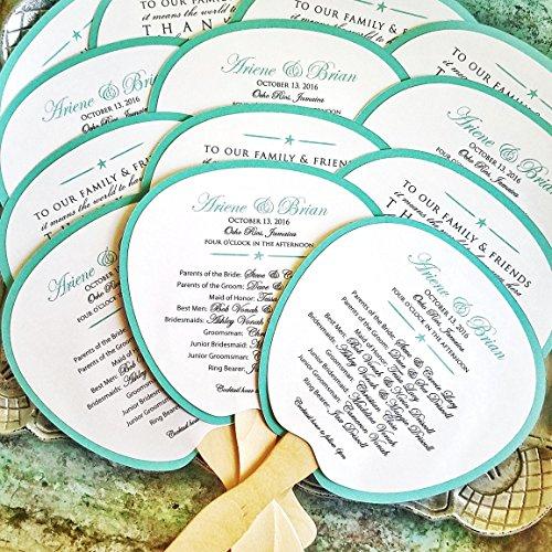 (Program Fan, Beach Wedding Program, Destination Wedding, Wedding, Beach wedding, Ocean Wedding, Fan, Program, Wedding, Wedding Thank)