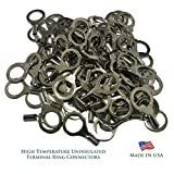 Sherco-Auto High Temperature 100 Pcs Terminal Connectors 12-10 AWG Gauge #10 Ring - USA Made