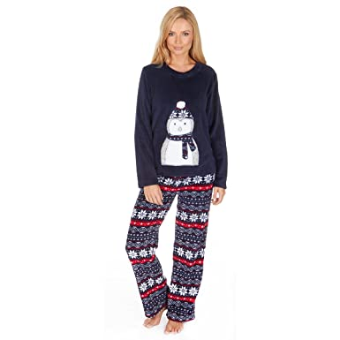 442aa6409b Image Unavailable. Image not available for. Colour  Forever Dreaming Women s  Coral Fleece Christmas PJ Pyjama Set Nordic Fairisle