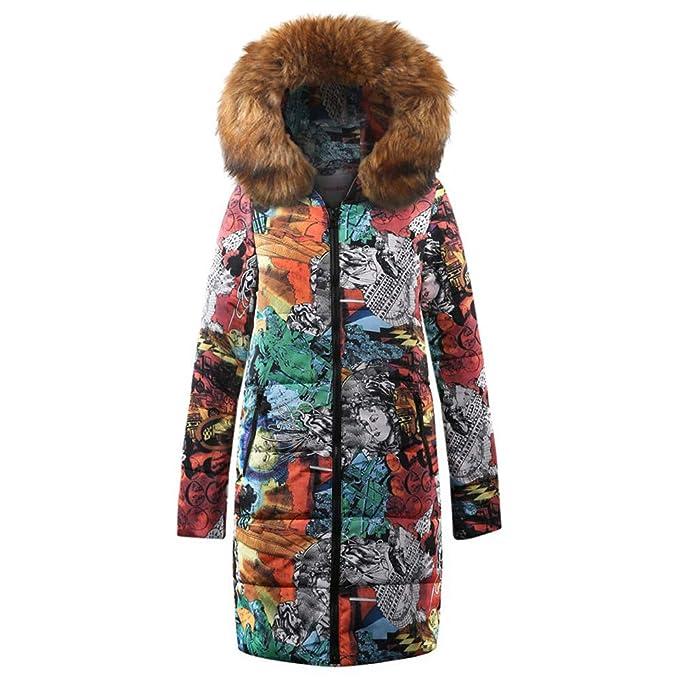 Linlink Mujeres Invierno Largo algodón señoras Parka Abrigo Encapuchado Chaqueta Acolchada Invierno Caliente Outwear: Amazon.es: Ropa y accesorios
