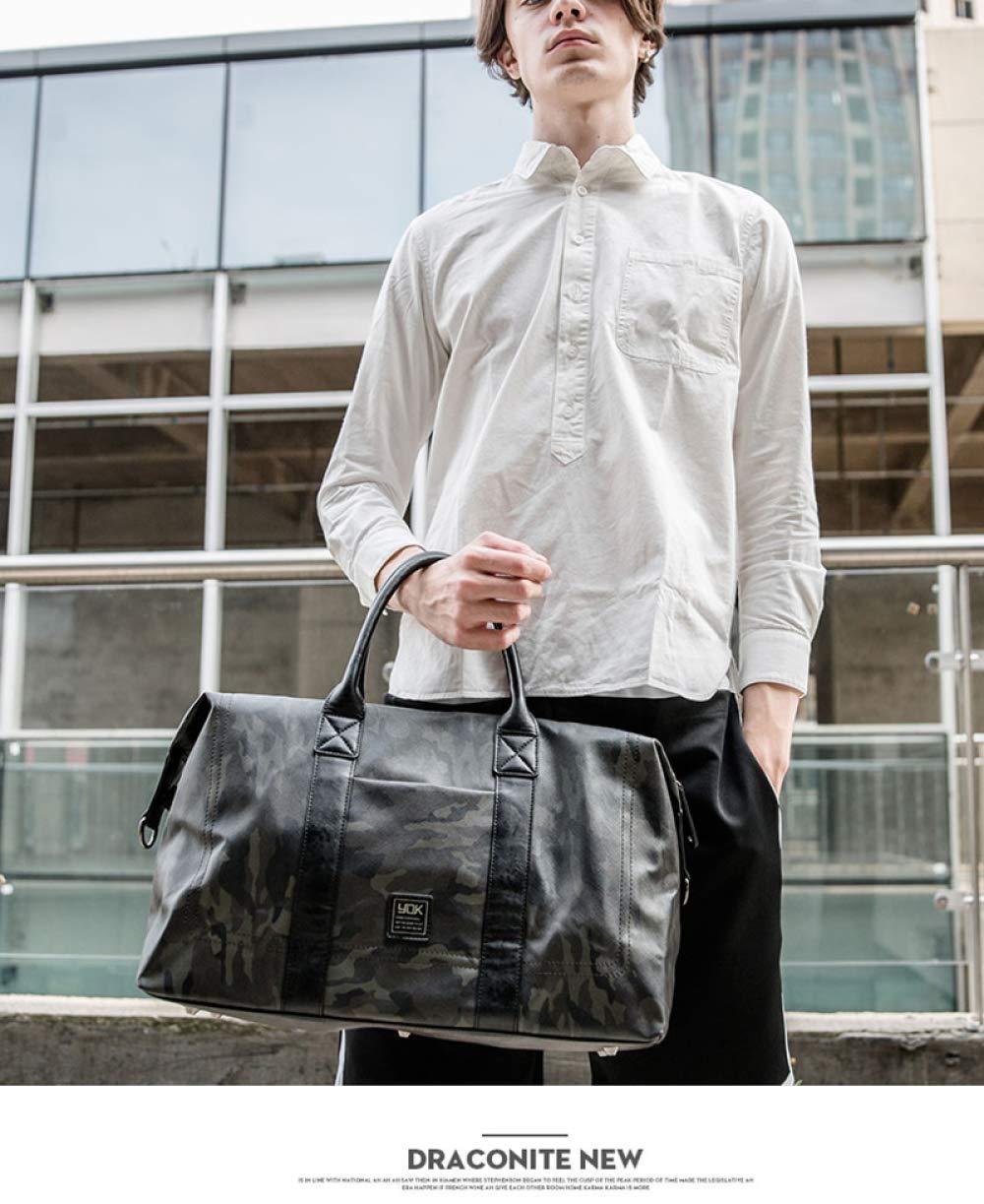 LAIDAYE Quality Baggage Travel Bag Handbag Leather Luggage Bag Waterproof Large Capacity Light Luggage Storage Bag Weekend Fitness Sports Bag Upgrade