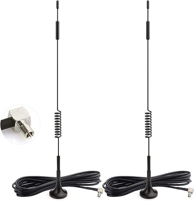 Bingfu 4G LTE Antena TS9 7dBi Base Magnética MIMO Red Antena Externa Amplificador de Señal Compatible con Telekom Vodafone O2 Netgear Huawei ...