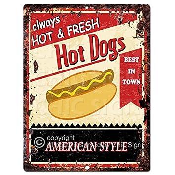 Amazon.com: Perros calientes Chic rústico del cartel clásico ...