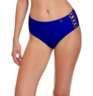95d3bea921 Body Glove Women's Smoothies Retro Solid High Rise Strappy Bikini Bottom  Swimsuit