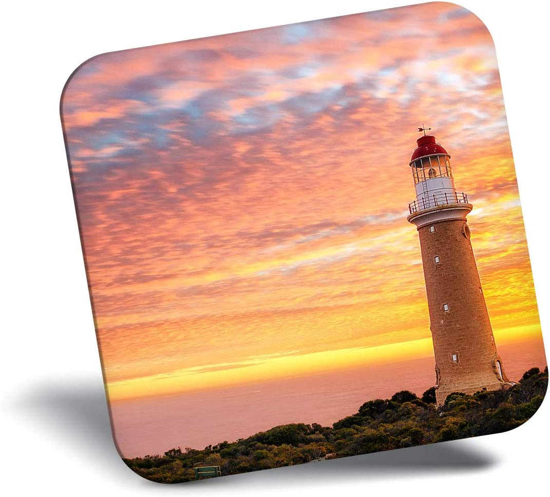 Destination Vinyl ltd Awesome Fridge Magnet - Cool Lighthouse Sunset 8918