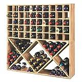 Jumbo Bin Grid 100 Bottle Wine Rack - Unstained