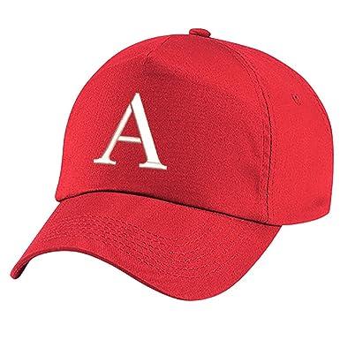 4sold Casquette Unisexe Broderie Coton Baseball Cap Garçons Filles Hip Hop  Flat Hat Bonnet A-Z Alphabet Bringt Rouge  Amazon.fr  Vêtements et  accessoires 1bb635b0a1a