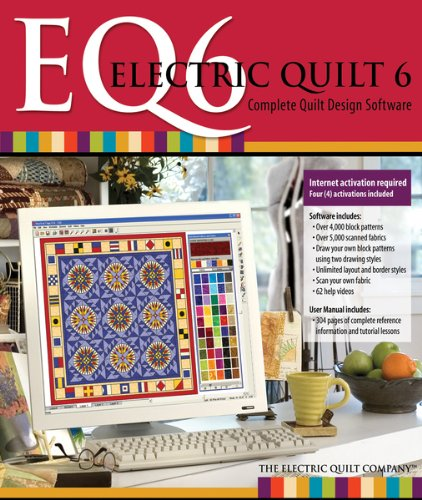 Electric Quilt 6 EQ6 Quilt Design Software with - Quilt Software