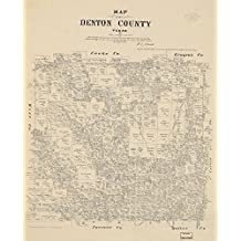 Vintage 1879 Map of Map of Denton County, Texas. - Shows landownership. - Available also through the Library of Congress Web site as a raster image. - LC Land ownership maps, 952 Denton County, Texas, United States