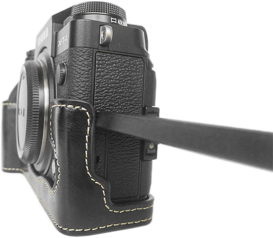 Fuji X T4 Hülle Muziri Kinokoo Pu Leder Hülle Kamera