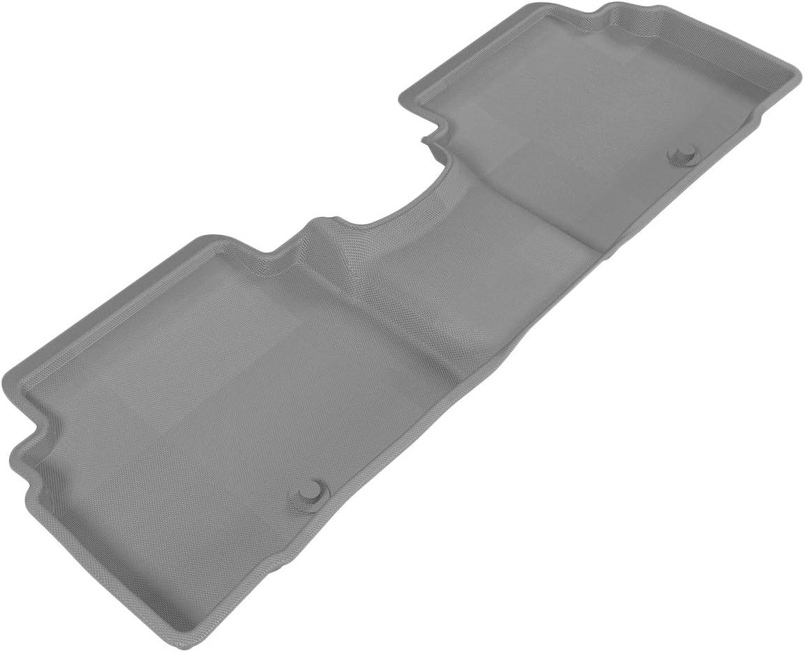 L1KA02621501 Gray 3D MAXpider Second Row Custom Fit Floor Mat for Select Kia Sportage Models Kagu Rubber