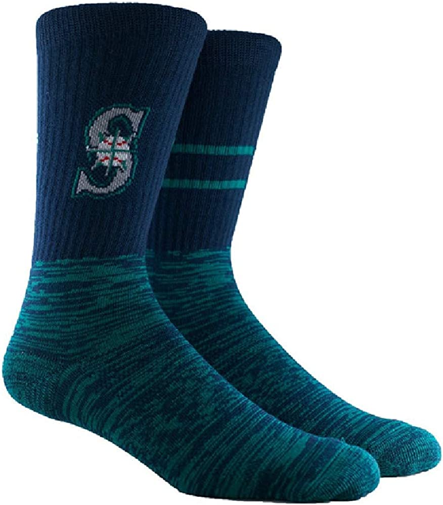 PKWY Unisex 2-Pack MLB Seattle Mariners Mixed Crew Socks