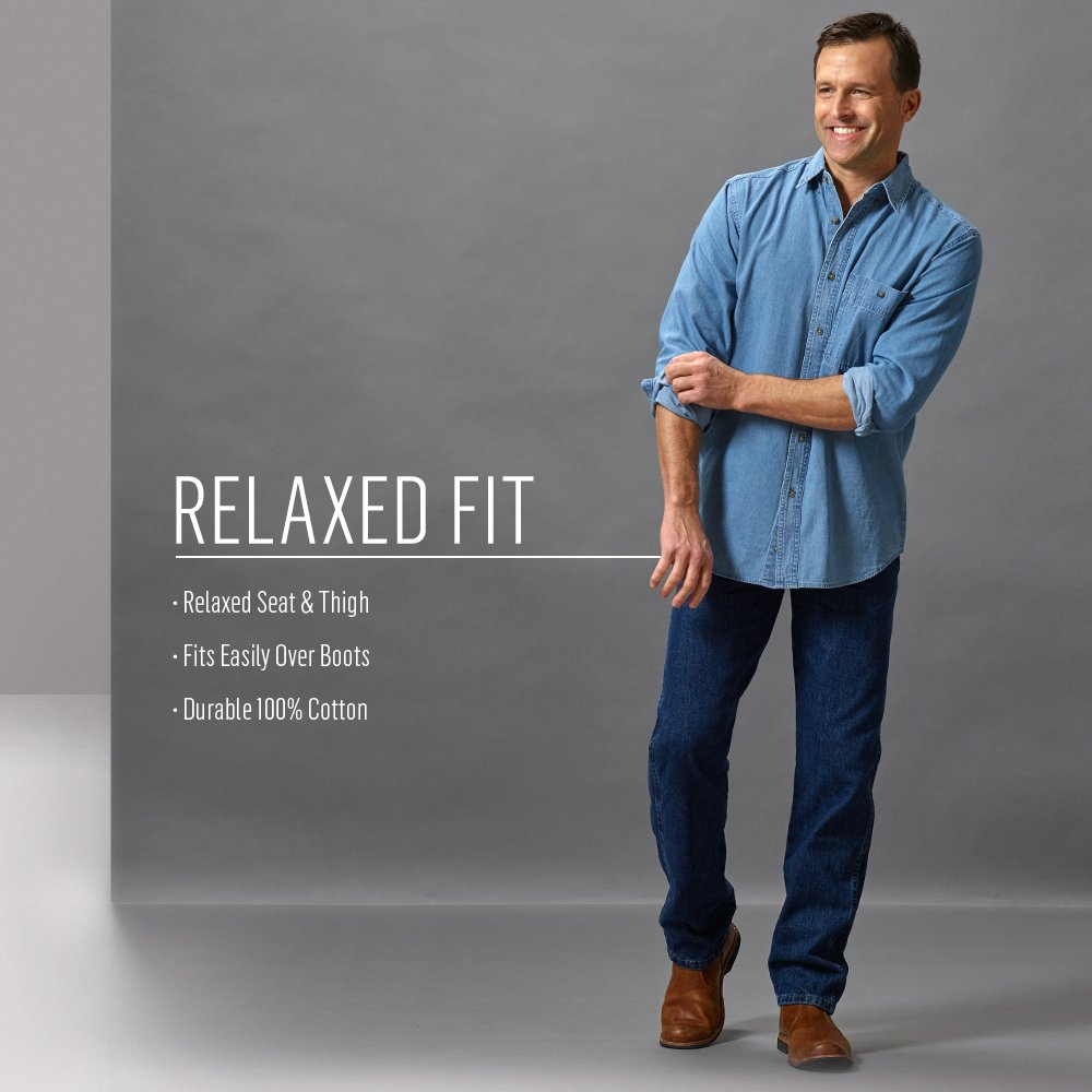 902fe21c Wrangler Men's Big & Tall Rugged Wear Relaxed Fit Jean at Amazon Men's  Clothing store: