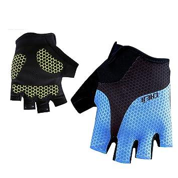 Santic Summer Cycling Gloves Half Finger Sport MTB Road Bike Short Gloves