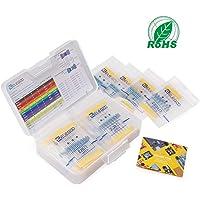 ELEGOO 525pcs Kit de Résistor Résistance Electrique 17 Values DE 0 Ohm-1M Ohm 1% avec Boîte en Plastique Composants Electroniques pour Arduino et Projet Expérimentalur Arduino et Projet Expérimental