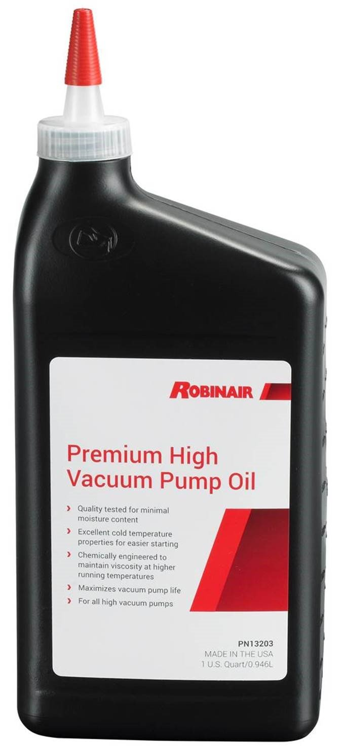 Robinair 13203 Premium High Vacuum Pump Oil - 1 Quart (Pack of 12), 384. Fluid_Ounces, 12 Pack