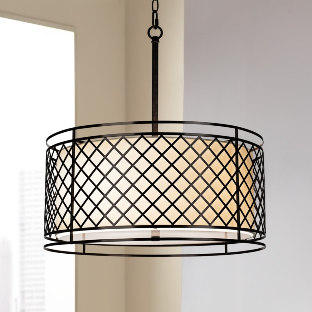 drum shade pendant lighting. lattice 4light 20 14 drum shade pendant lighting