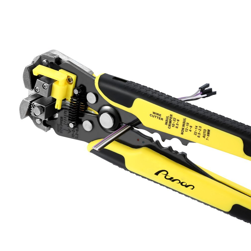 Wire Stripper, Panon Self-adjusting Cable Cutter Crimper,Automatic Wire Stripping Tool/Cutting Pliers Tool for Industry
