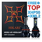 9004 fog light - HIKARI LED Headlight Bulbs Conversion Kit -9004(HB1),TOP CREE (XHP50+XM-L2) 9600lm 6K Cool White CREE,2 Yr Warranty