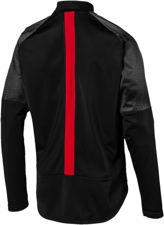 PUMA AC Milan Stadium Poly Jacket Sponsor Logo with Zipped P ...