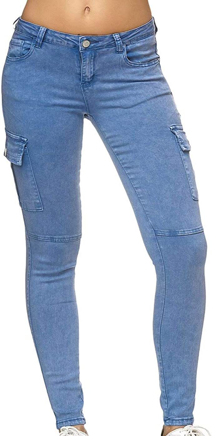 Linea donna grigio slim skinny Jeans Donna Pantaloni 10 16