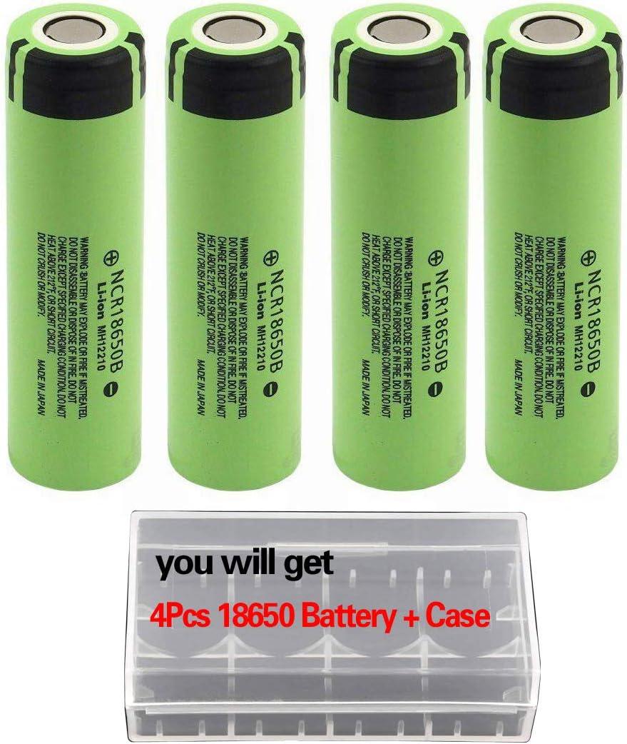 4Pcs NCR18650B Storage Holder Case Kit for Video doorbell USB Fan LED Flashlight (4pcs)