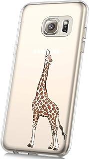 JAWSEU Custodia Galaxy S6,Cover Galaxy S6 Silicone TPU Trasparente,Bella Creativo Cristallo Chiaro Ultra Sottile Flessibile Morbida Soft Gel Bumper Coperture Protettiva Cover,#18