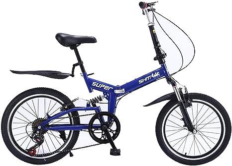 ANJING Bicicleta Bike Plegable con Guardabarros Delantero y ...