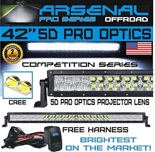#1 2018 5D 42 inch Pro Optics 240W 5D=400W 40,000LM CREE LED