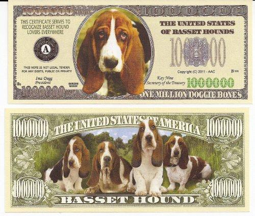 Pet Products Hound (Basset Hound Dog $Million Dollar$ Novelty Bill Collectible)